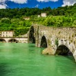 Devils Bridge Lucca, Italy — Stock Photo