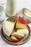 Fresh and healthy dairy products — Stock Photo