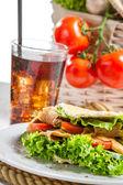 Closeup taze sebze kebabı — Stok fotoğraf