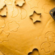 Closeup of gingerbread cookies for Christmas — Stock Photo #27403523