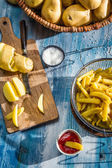 French fries made from potatoes — Stock Photo