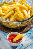 Closeup of fresh homemade French fries — Stock Photo