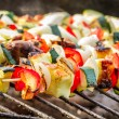 Stock fotografie: Hot skewers on grate