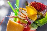 Refreshing summer drink with watermelon — Zdjęcie stockowe