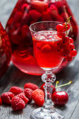 Liqueur made of wild berries — Stock Photo
