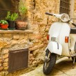 Vintage scene with Vespa on old street — Stock Photo #29758651