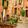 Stock Photo: Vintage porch on street in Italy