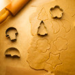 Close-up of gingerbread cookies before baking — Stock Photo #29760375