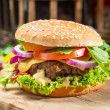 Two homemade burgers made from fresh vegetables — Stockfoto