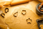 Preparing to do gingerbread cookies for Christmas — 图库照片