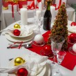 Stock Photo: Richly set Christmas table