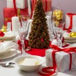 Christmas Eve table ready for supper — Stock Photo