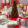 Stock Photo: Christmas Eve table ready for supper