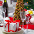 Preparations for Christmas dinner — Stock Photo