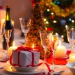 Traditional dishware on Christmas table — Stock Photo #31647339