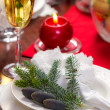 Traditionally decorated christmas plate — Stock Photo