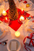Christmas Eve spirit depicted on a traditional table — Stock Photo