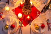 Traditionally set table for Christmas Eve — Stock Photo