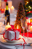 Njut av ditt julbord — Stockfoto