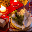 Stock Photo: Seat at Christmas Eve table