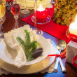 Free place at the Christmas table — Stock Photo