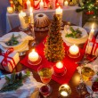 Stock Photo: Dinning room at Christmas Eve