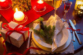 Seat at the Christmas Eve table — Stock Photo