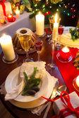 Kerst tafel is klaar — Stockfoto