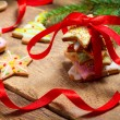 Closeup of gingerbread cookies as a gift — Stock Photo