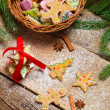 Gingerbread cookies as Christmas decoration — Stockfoto