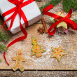 Gingerbread cookies as a gift for Christmas — Stockfoto