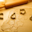Closeup of gingerbread cookies for Christmas — Stock Photo #32444169