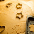 Closeup of gingerbread cookies for Christmas — Stock Photo