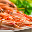 Feshly cooked scampi on a plate — Stockfoto