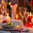 Stock Photo: Beautifully set table for Christmas Eve
