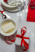 Preparing the table for Christmas Eve — Stock Photo