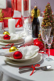 Christmas dinner was ready to serve on — Stock Photo