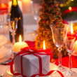 Christmas Eve table waiting for guests — Stock Photo