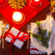 Seat at the Christmas Eve table — Stockfoto