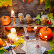 Enchanted place on the old witches table — Stock Photo