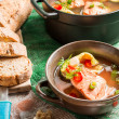 Fish soup spiced with dill and chilli pepper — Stock Photo #35380663