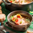 Fish soup spiced with dill and chilli pepper — Stock Photo #35380721