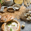 Ingredients for homemade sour soup — Stock Photo