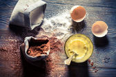 Dessert composed of eggs and sugar — Stock Photo