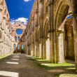 Ruins of an old church in Tuscany — Stock Photo #35626383