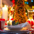 Stock Photo: Traditionally decorated christmas table