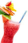Bebida refrescante de verão com morangos — Fotografia Stock