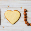 """I love you"" sentence arranged with cookies and nuts no. 4 — Stock Photo"