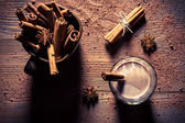 Cocoa with milk and cinnamon flavored — Stock Photo