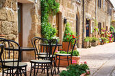 Small restaurant by street in the old italy town — Stock Photo
